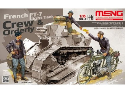 HS 005 French FT 7 Light Tank Crew & Orderly