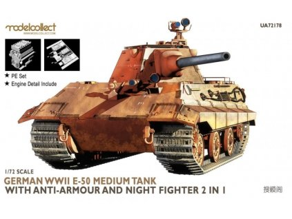 UA72178 German WWII E 50 Medium Tank with Anti Armour and Night Fighter 2 in 1