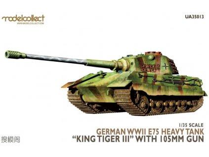 UA35013 German WWII E75 Heavy Tank (King Tiger III) with 105mm Gun