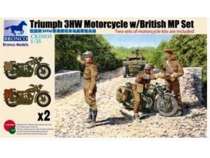 CB35035 Triumph 3HW Motorcycle with British MP Set