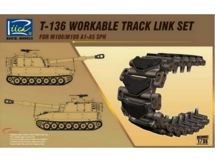 RE30002 T 136 workable track link set for M108 M109 A1 A5 SPH