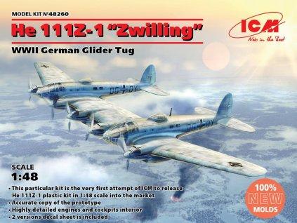 ICM 48260 1 48 He 111Z 1 'Zwilling' German WWII Glider Tug