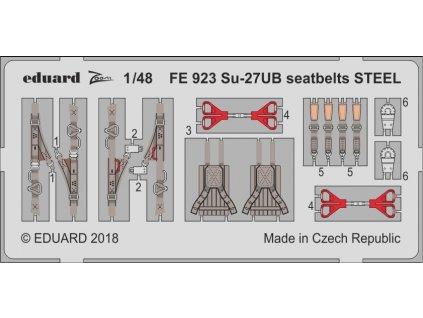 FE923 Su 27UB Seatbelts STEEL 1 48