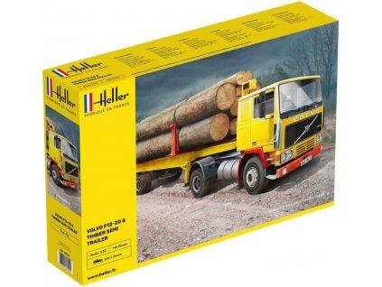 81704 Volvo F12 20 & Timber Semi Trailer