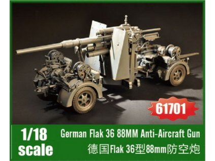 61701 German Flak 36 88mm Anti Aircraft Gun 1 18