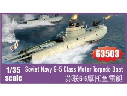 63503 Soviet Navy G 5 Class Motor Torpedo Boat 1 35
