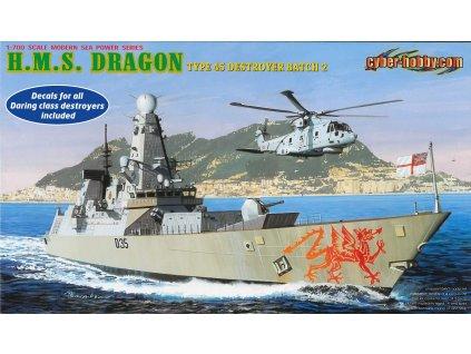 Model Kit loď 7109 - H.M.S. Dragon Type 45 Class Destroyer (1:700)