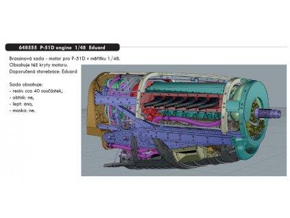 648555 P 51D engine 1 48 Eduard