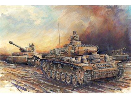 Model Kit tank 7386 - Pz.Kpfw. III Ausf. N DAK (1:72)