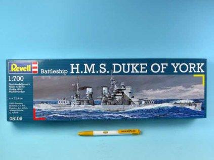 Plastic ModelKit loď 05105 - Battlehip H.M.S. Duke of York (1:700)
