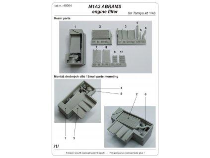 48004 M1A2 ABRAMS engine filter 1 plánek