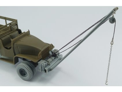 1/48 GMC CCKW 2,5t 6x6 bumper,aditional canisters,winch,double tires and crane  (for Tamiya kit 1/48 scale)