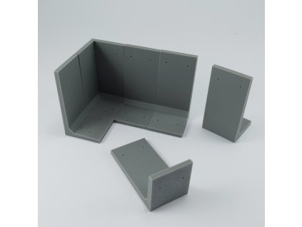 1/48 L wall (high 200cm)  (1/48 scale)