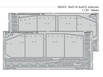 36452 StuG III Ausf.G schurzen 1 35 Takom