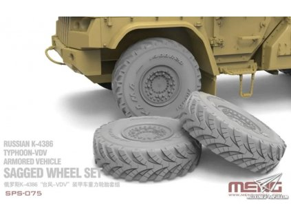 SPS 075 Sagged Wheel Set for Russian K 4386 Typhoon VDV Armored Vehicle