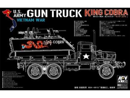 AF35323 US Army Gun Truck King Cobra M113 + M54
