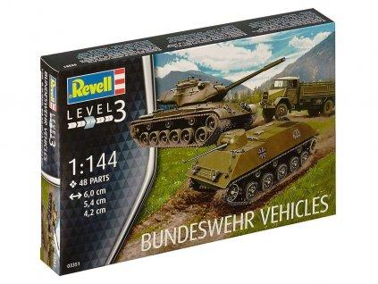 Plastic ModelKit military 03351 - Bundeswehr Vehicles M47 Patton & HS 30 & LKW 5t gl (Emma) (1:144)