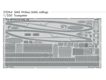 53264 SMS Viribus Unitis railings 1 350 Trumpeter
