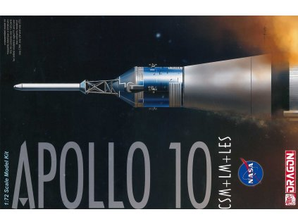 Model Kit vesmír 11003 - Apollo 10 CSM + LM + LES (1:72)