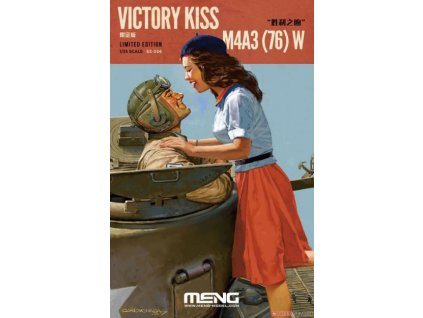 ES 006 M4A3(76) W (Victory Kiss) with Resin Figures + detail upgrade Set (PE) Limited Edition