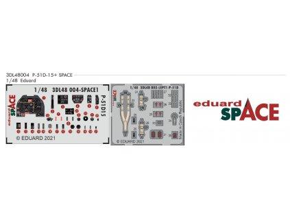 3DL48004 P 51D 15+ SPACE 1 48 Eduard