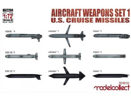 UA72204 Aircraft weapons set 1 U.S.cruise missiles AGM 86, AGM 109, AGM 129