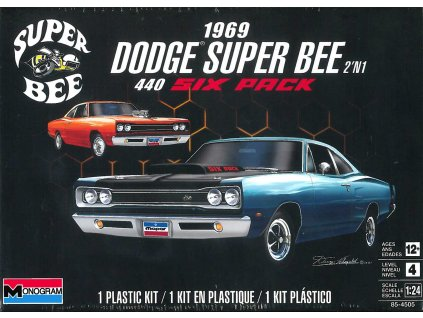 Plastic ModelKit MONOGRAM auto 4505 - 1969 Dodge Super Bee (1:24)