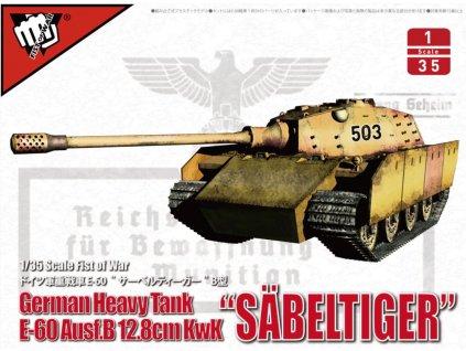 UA35019 Fist of War German Heavy tank Sabeltiger E 60 Ausf.B 12.8cm Kwk