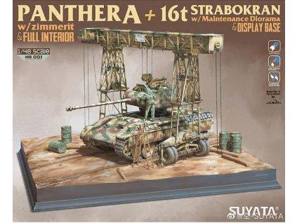 NO 001 Panther A + 16T Strabokran with maintenance diorama + display base