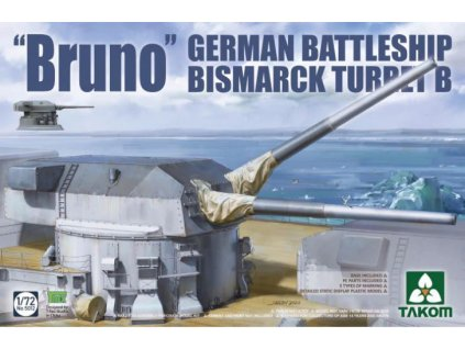 5012 'Bruno' German Battleship Bismarck Turret B