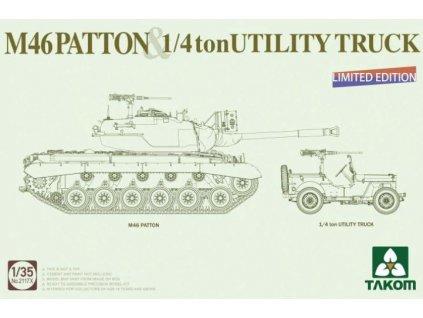 2117x M46 Patton & 1 4 ton Utility Truck