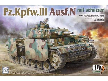 TAK8005 Pz.Kpfw.III Ausf.N mit schürzen