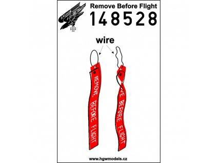 remove before flight belts 148 148528