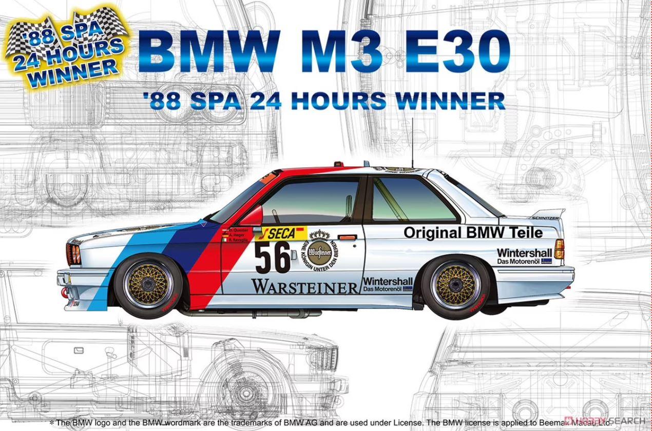 1/24 BMW M3 E30 '88 Spa 24 Hours Winner