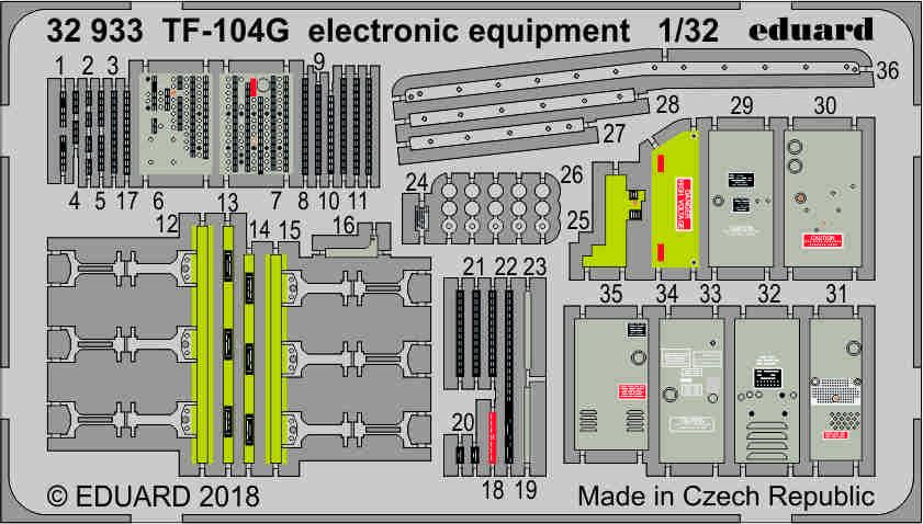 1/32 TF-104G šachta elektroniky