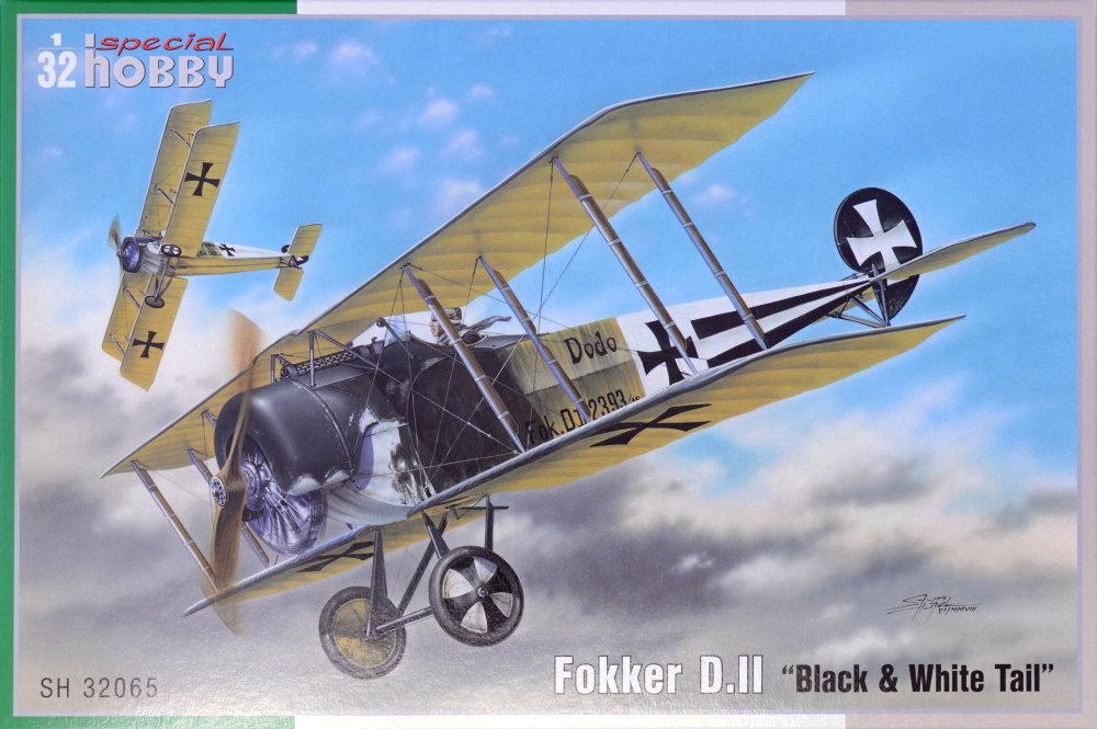 1/32 Fokker D.II 'Black & White Tail' (2x camo)