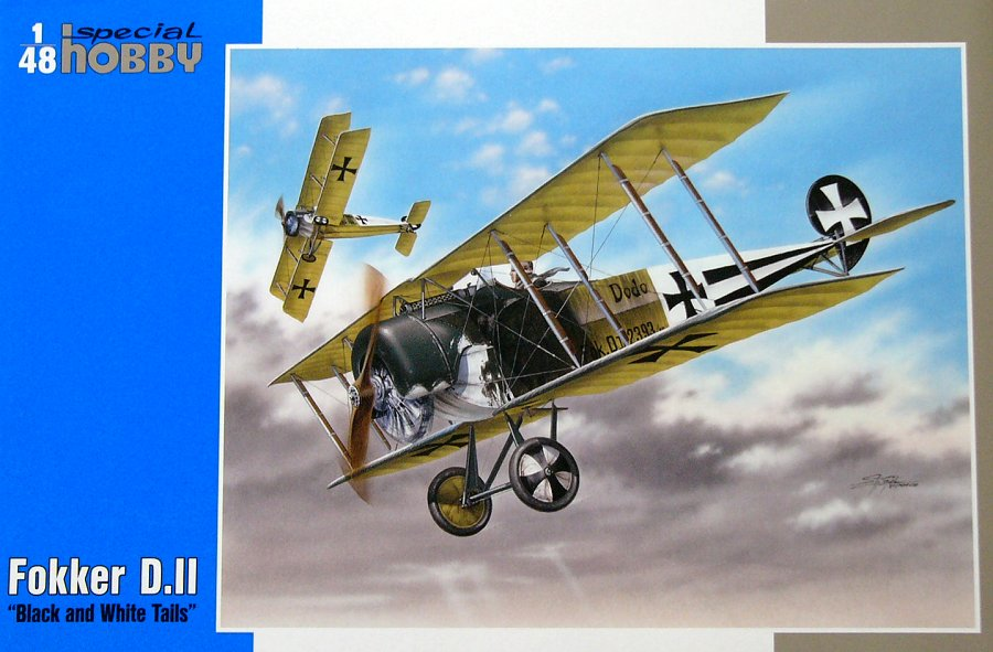1/48 Fokker D.II 'Black and White Tails'