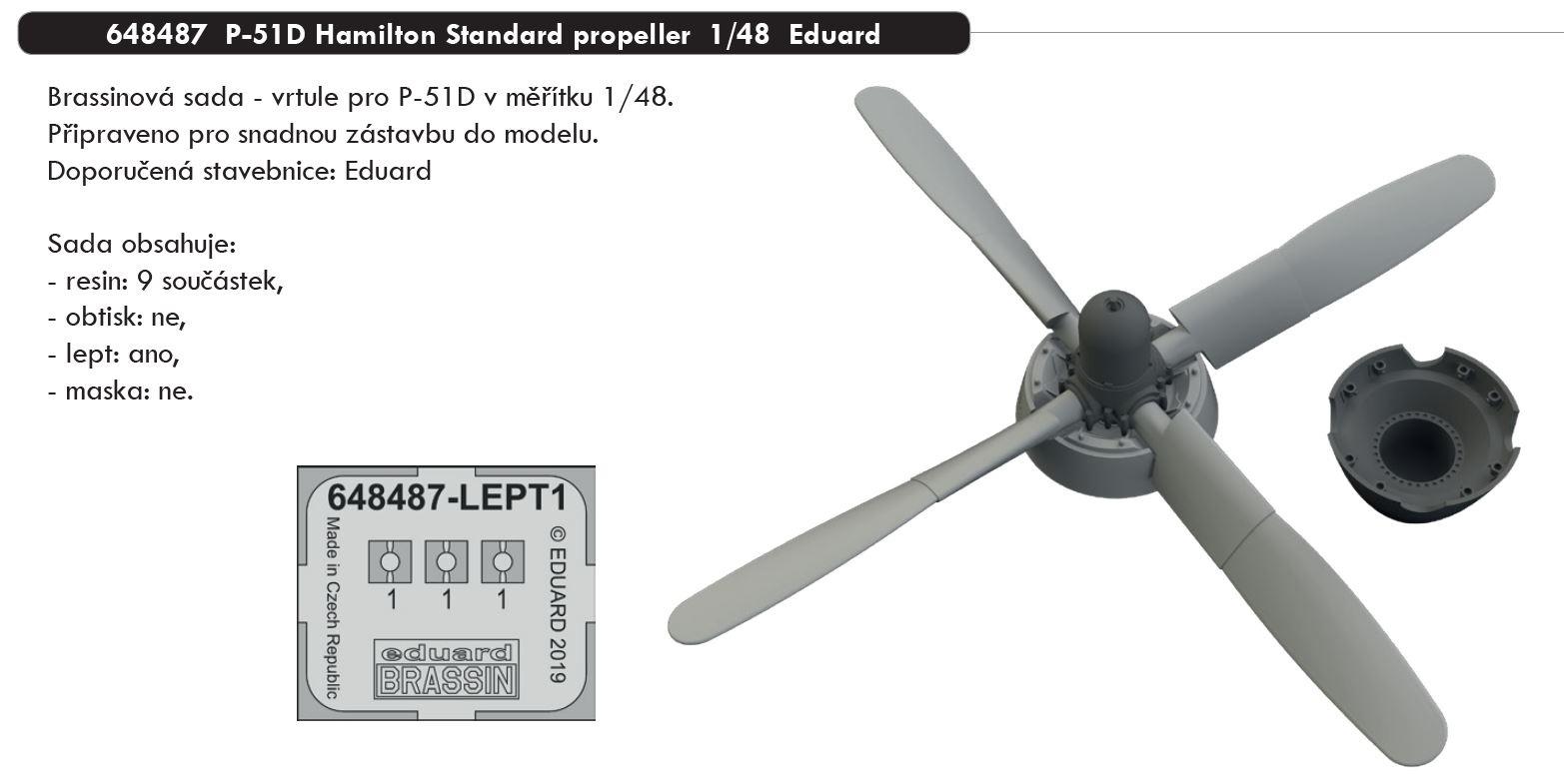 1/48 P-51D Hamilton Standard propeller (EDUARD)