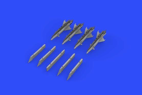 RS-2US střely a pylony pro MiG-21 1/72