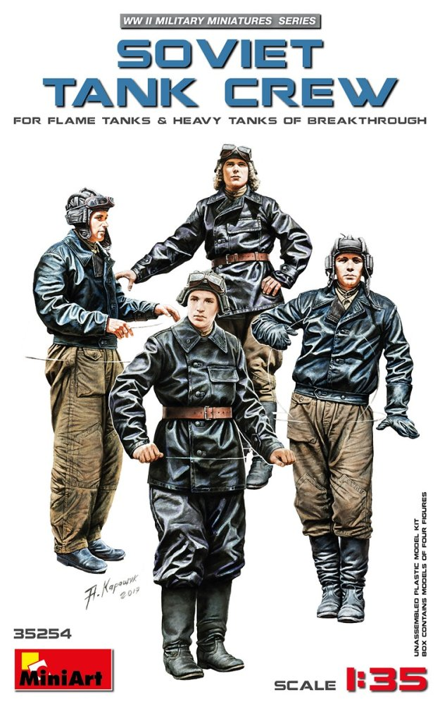 Fotografie 1/35 Soviet Tank Crew (Flame&Heavy Tanks,4 fig.)