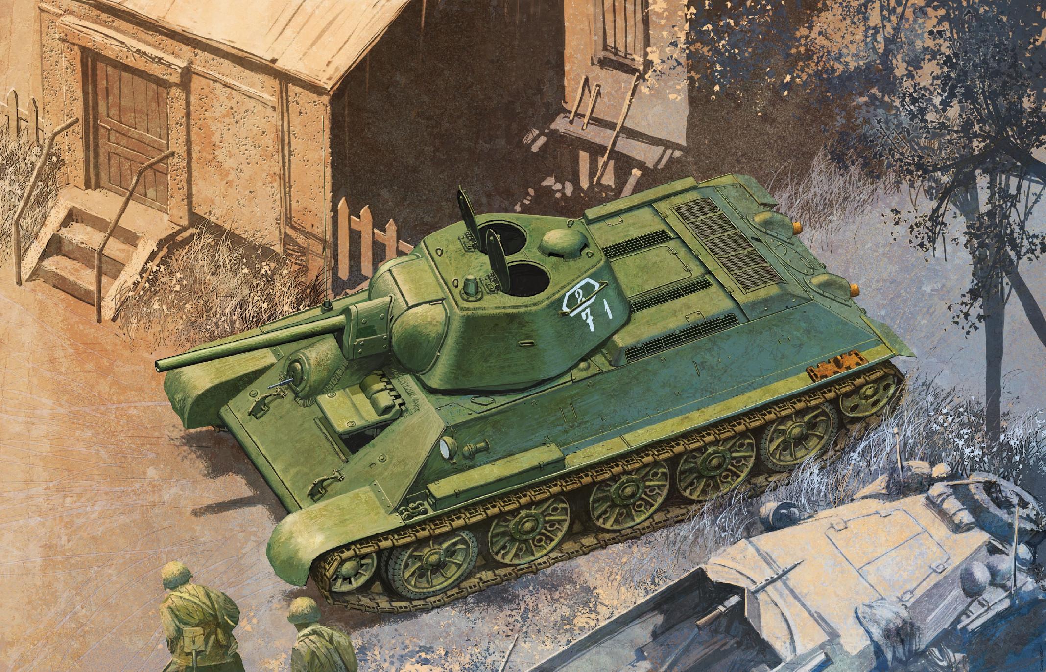 Model Kit tank 6424 - T-34/76 Mod.1942, HEXAGONAL TURRET SOFT EDGE TYPE (SMART KIT) (1:35)