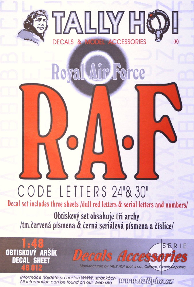 1/48 RAF Code Lett.Red+s.n.