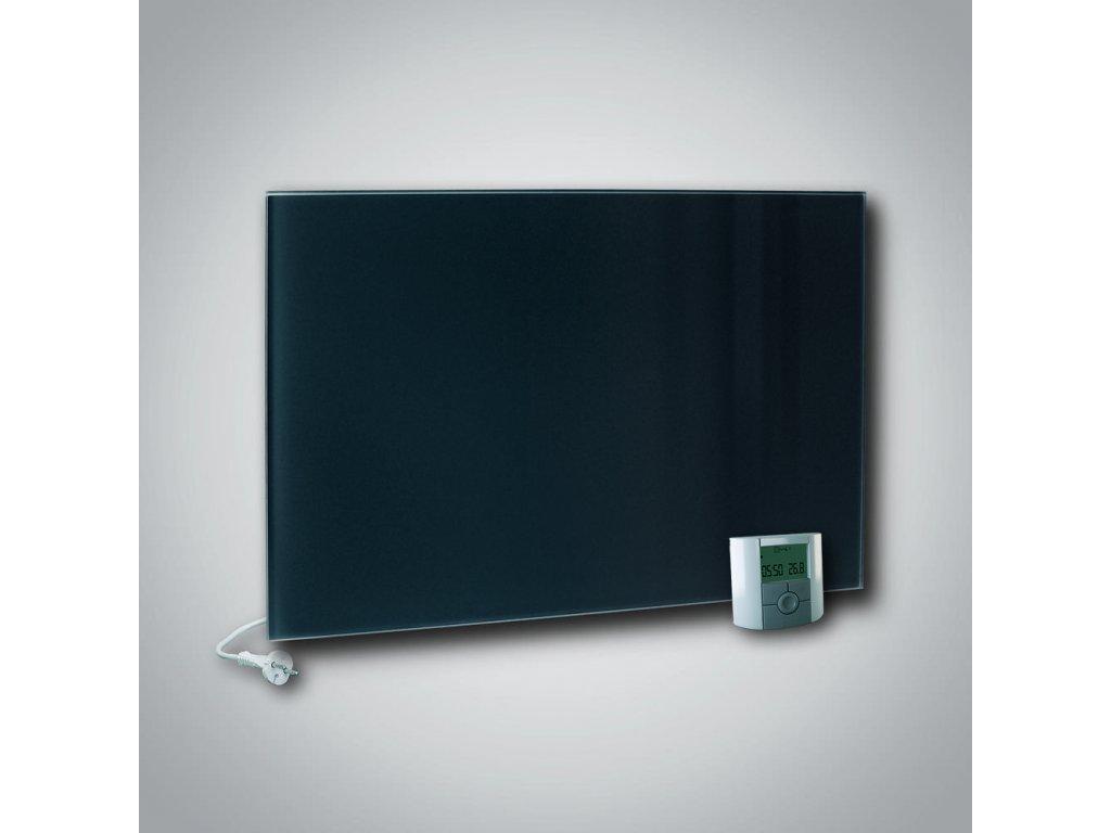 Sálavý skleněný panel GR+ 900 černý