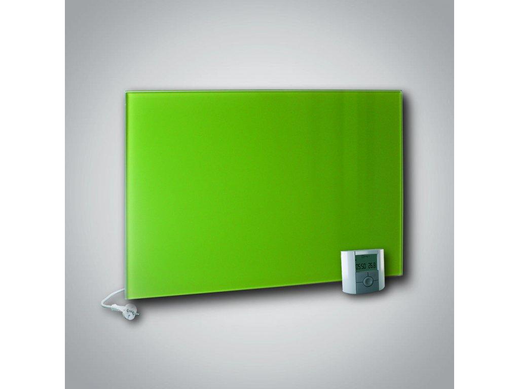 Sálavý skleněný panel GR+ 500 žlutozelený