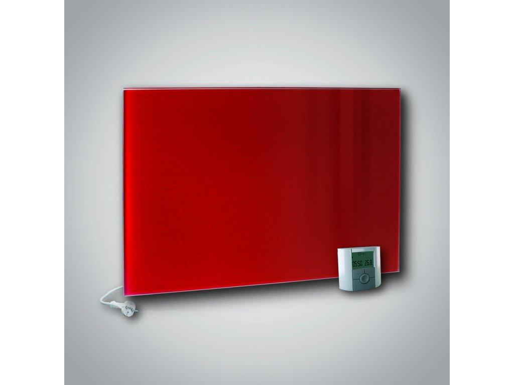 Sálavý skleněný panel GR+ 500 červený