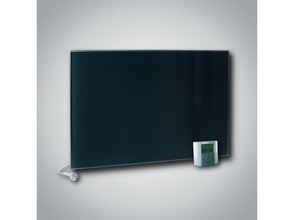 Sálavý skleněný panel GR+ 700 černý
