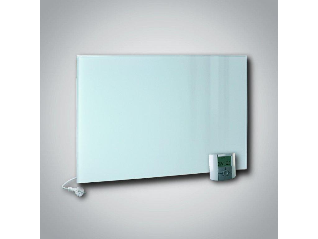 Sálavý skleněný panel GR+ 700 bílý