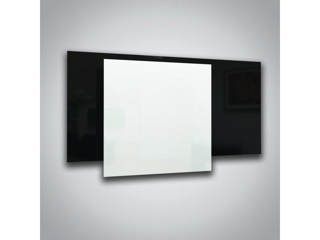 Sálavý skleněný panel ECOSUN 600 GS White