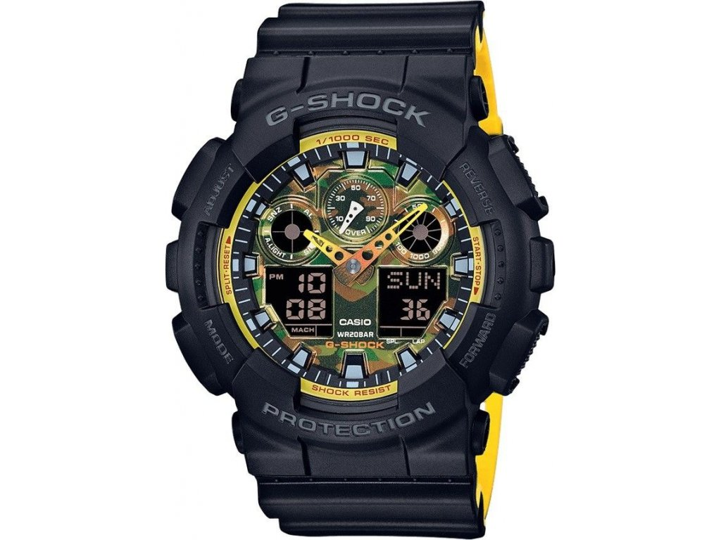 casio g shock g classic ga 100by 1aer special edition yellow orange accent 153637 182449