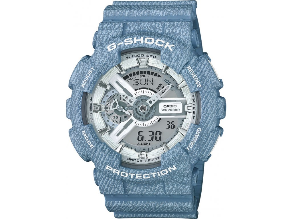 casio g shock original ga 110dc 2a7er denim series 110526 1